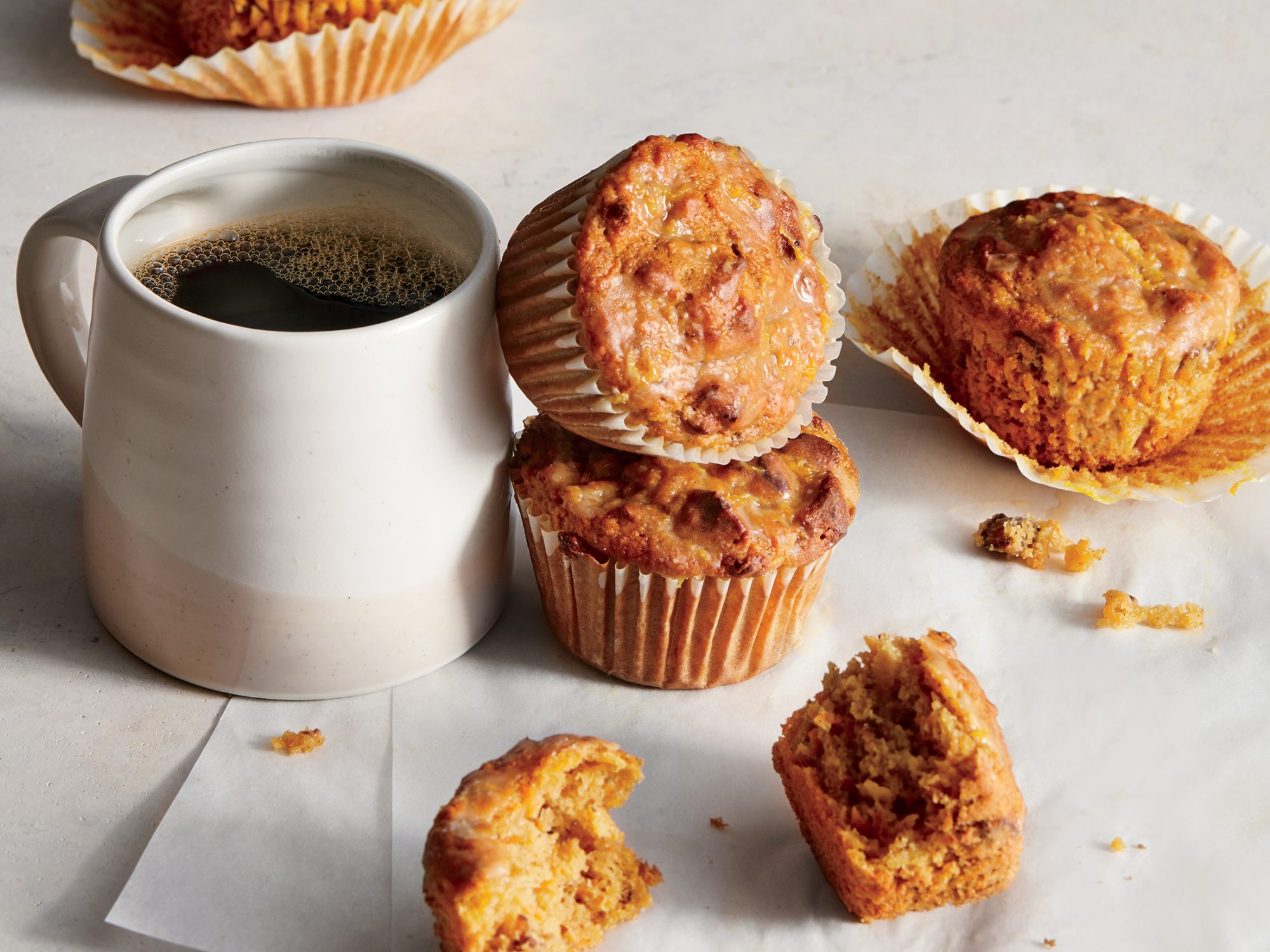 ck-Carrot-Apple Muffins With Orange Glaze