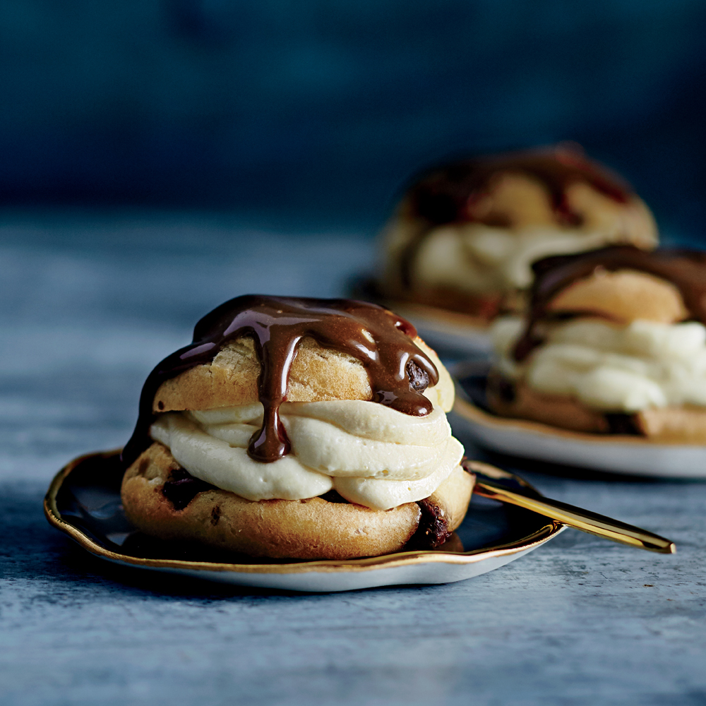 Chocolate Chip Cream Puffs
