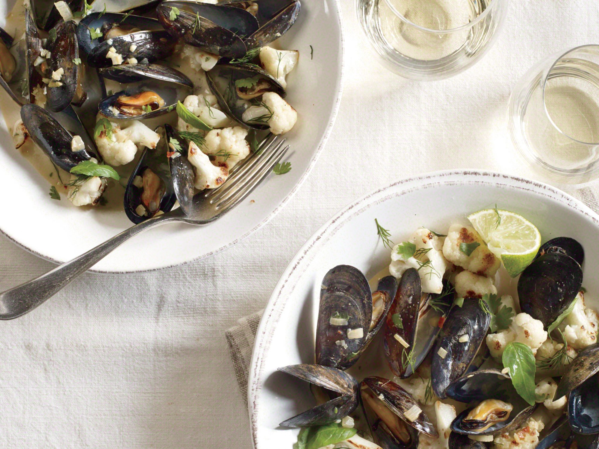 ck-Coconut Curried Mussels with Cauliflower