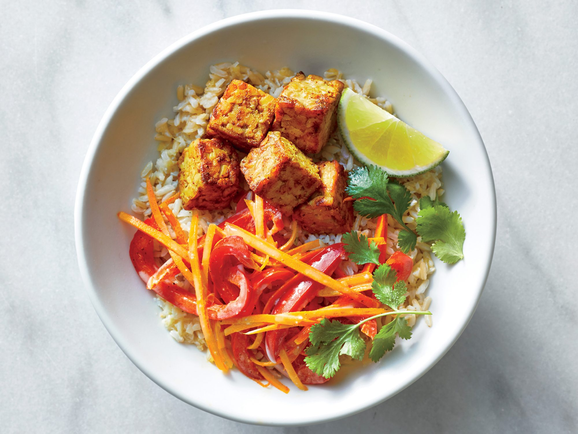 Coconut-Curry Tempeh Bowls