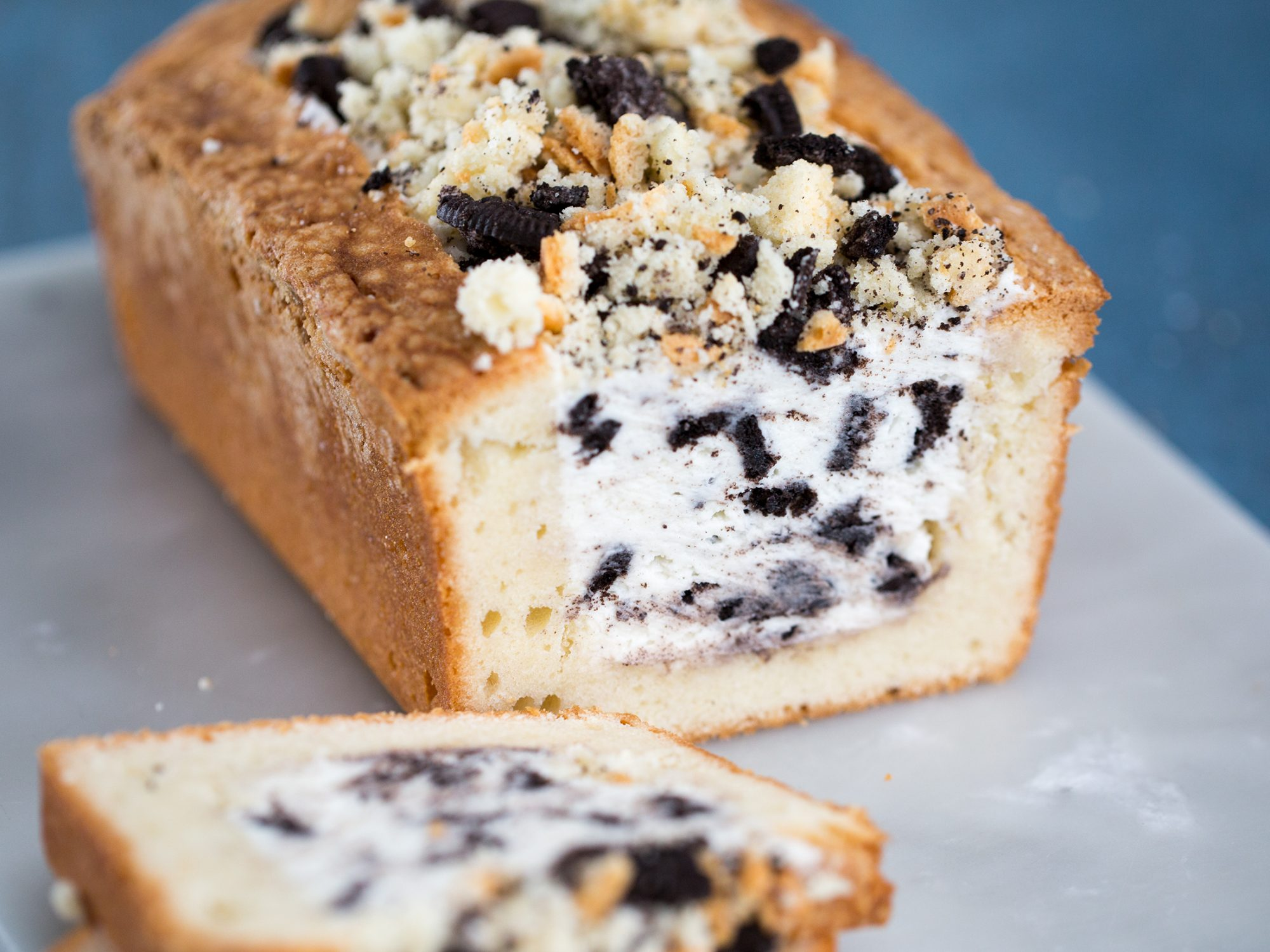 Cookies-and-Cream Stuffed Pound Cake image