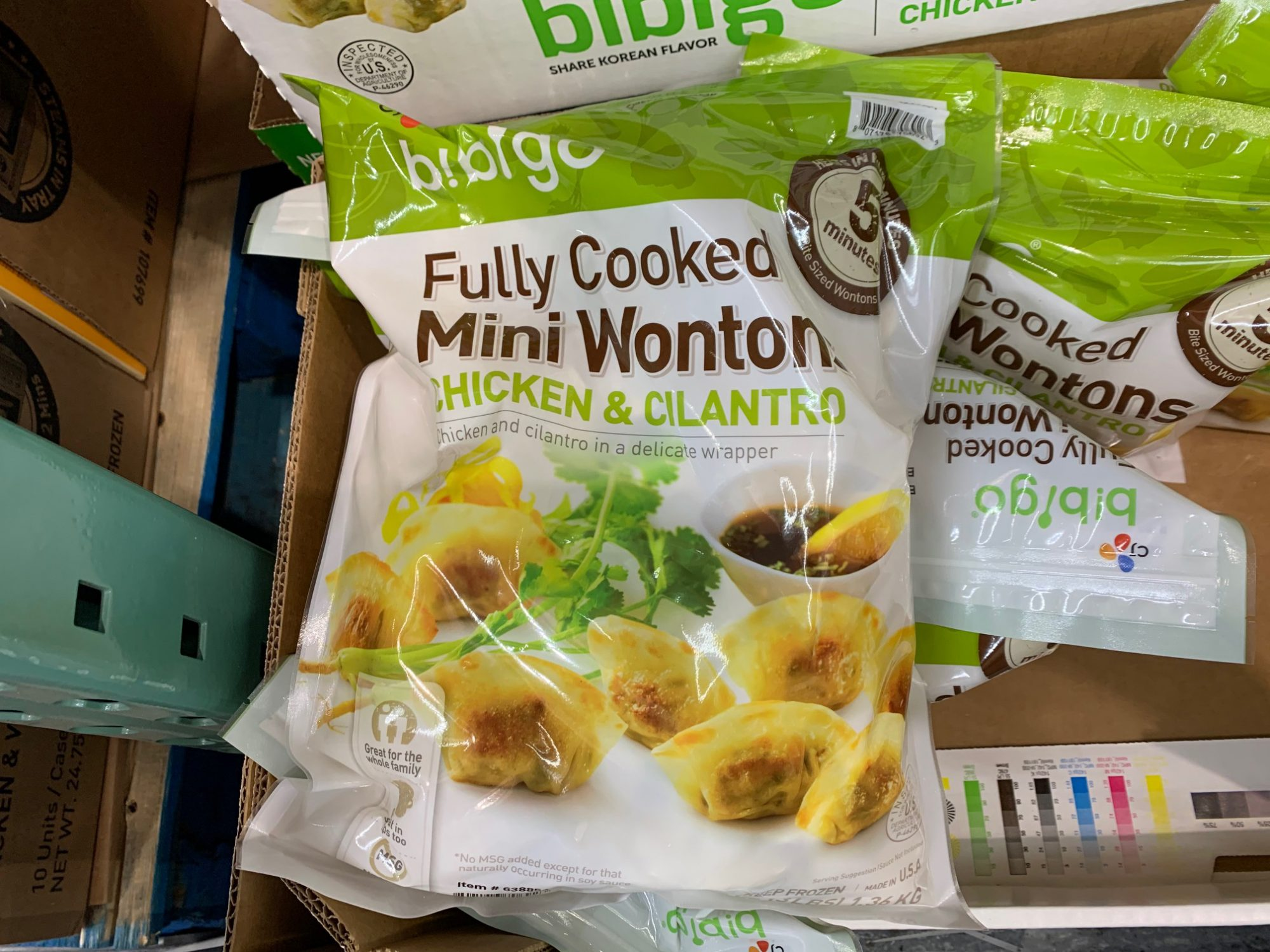 Bibigo Chicken & Cilantro Mini Wontons