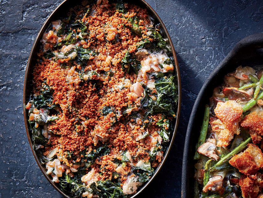 Creamed Greens with Farro