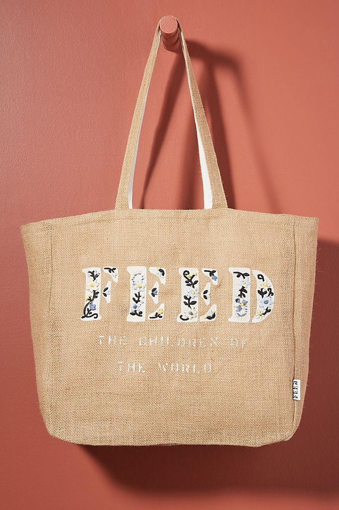 FEED Embroidered Tote Bag