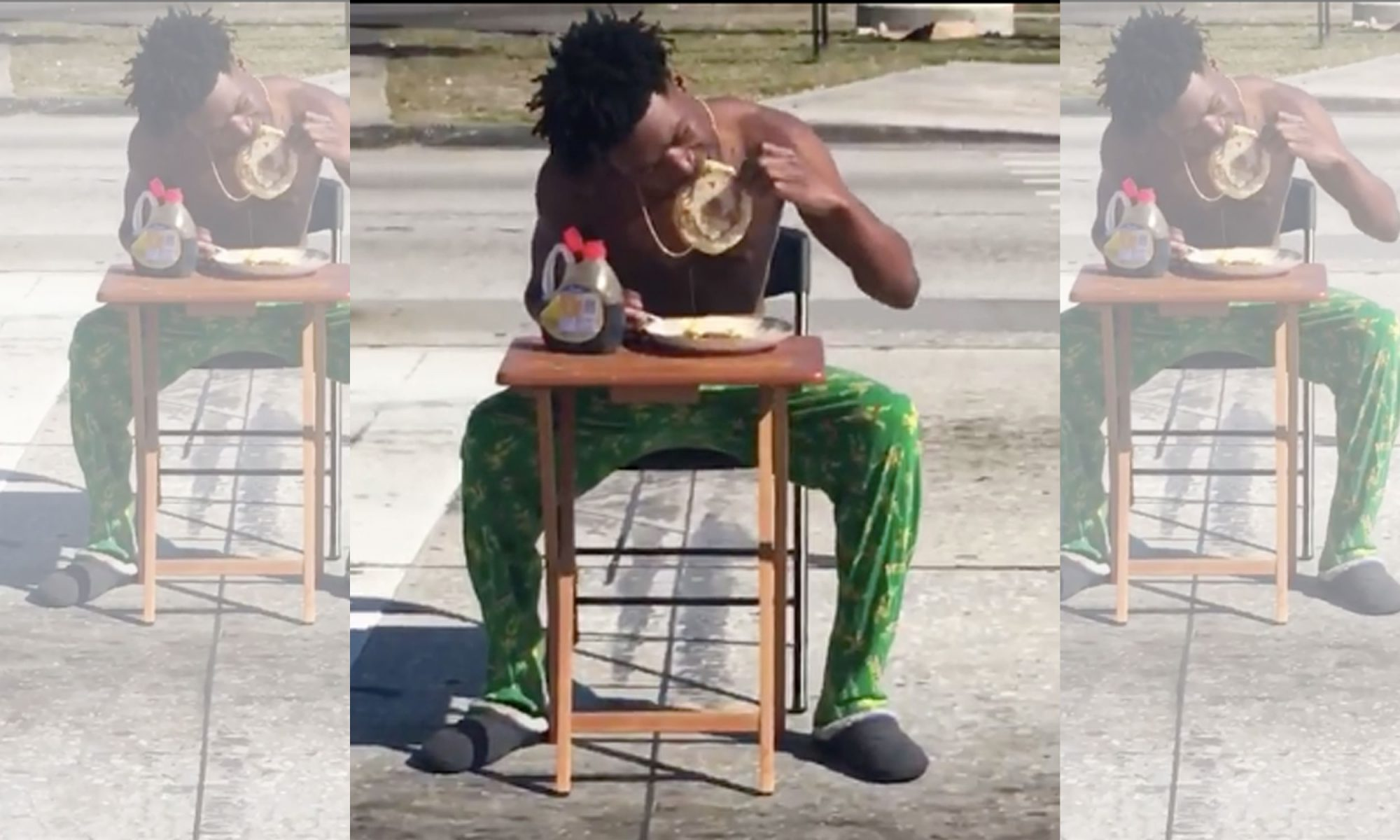 EC: Meet the Florida Man Facing Charges for Eating Pancakes in the Street