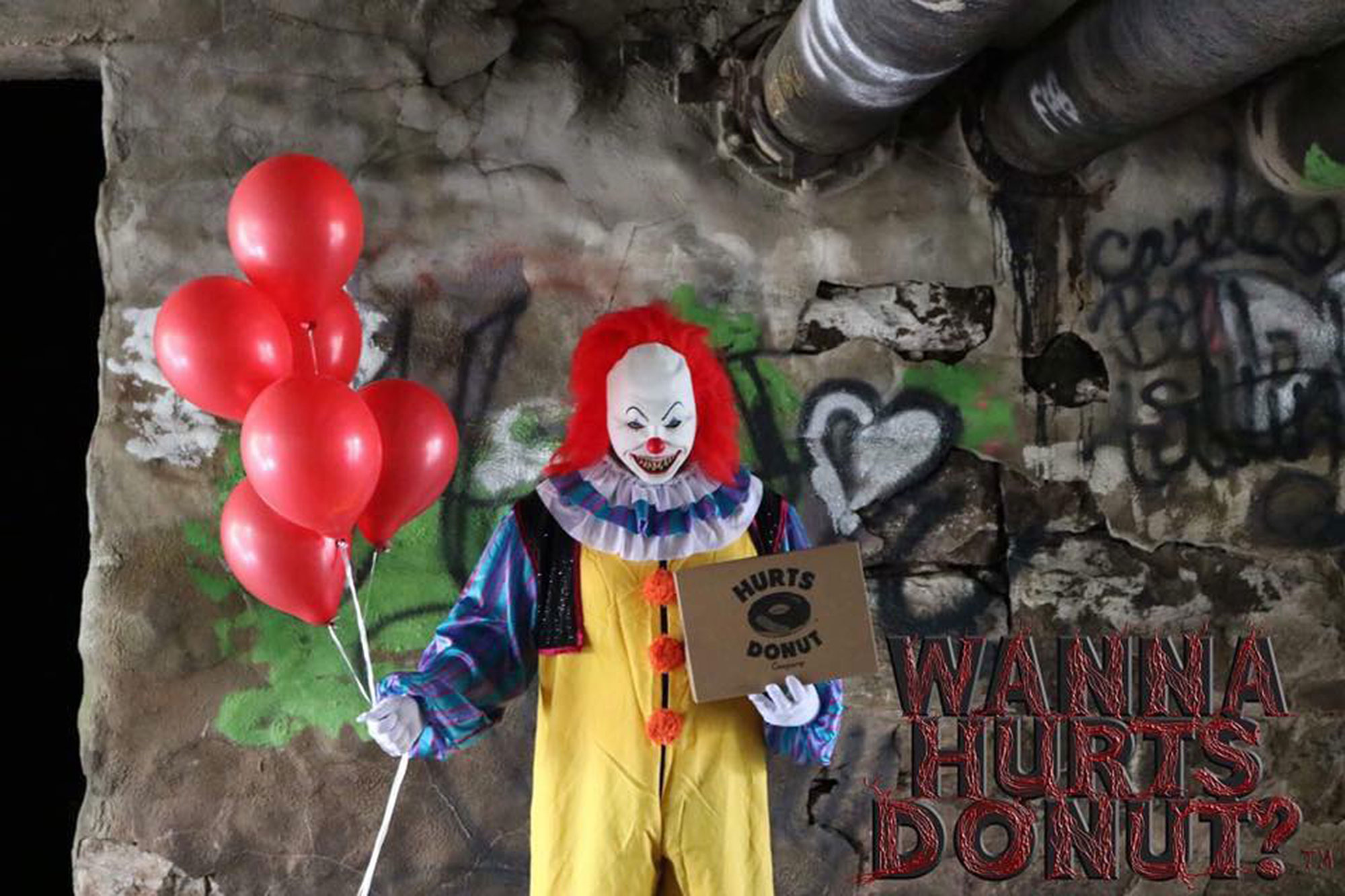 This Creepy Clown Will Deliver Doughnuts to Your Friends (or Enemies)