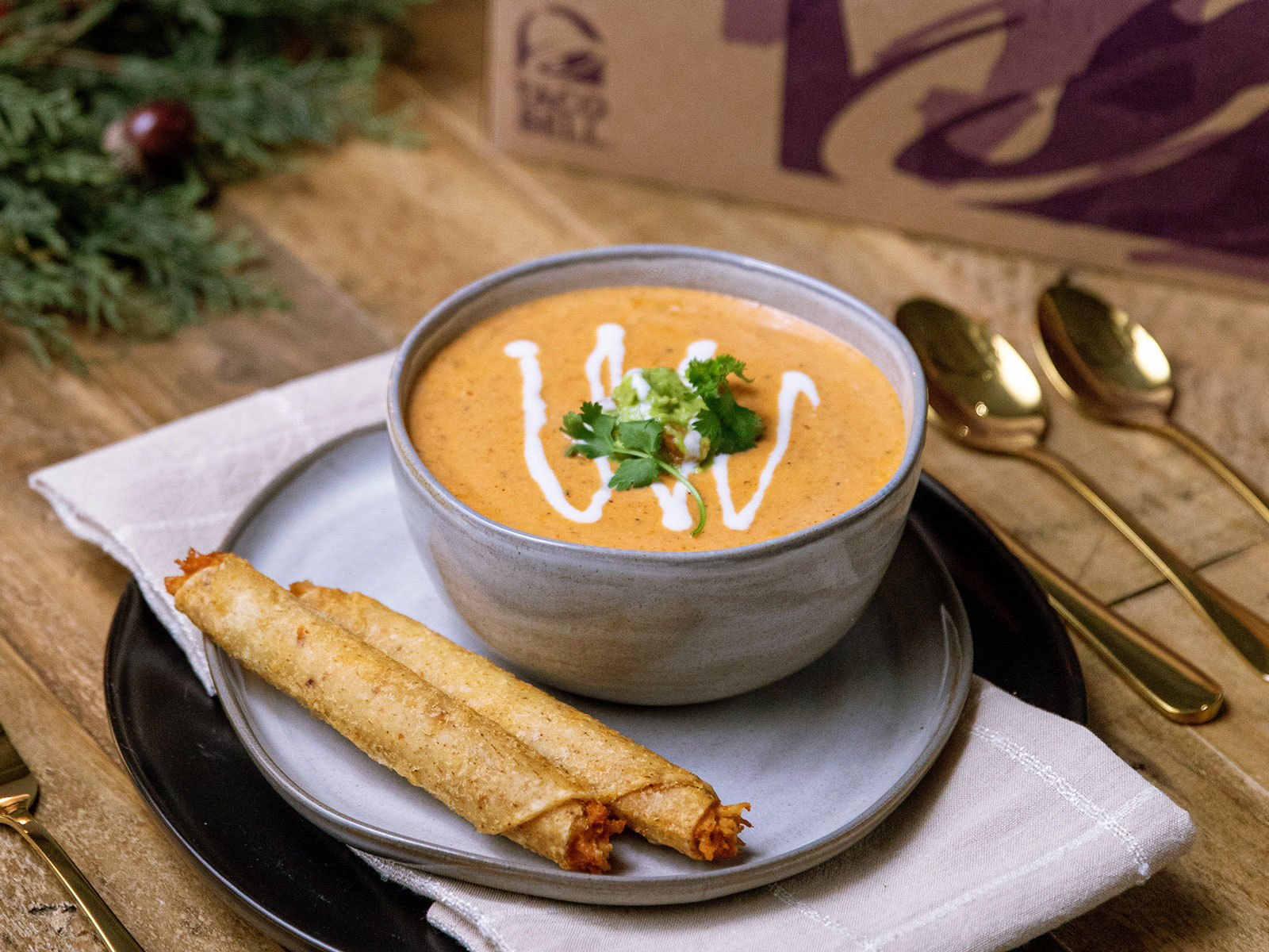 Taco Bell Has a Recipe for Turning Rolled Chicken Tacos intoa Thanksgiving Soup
