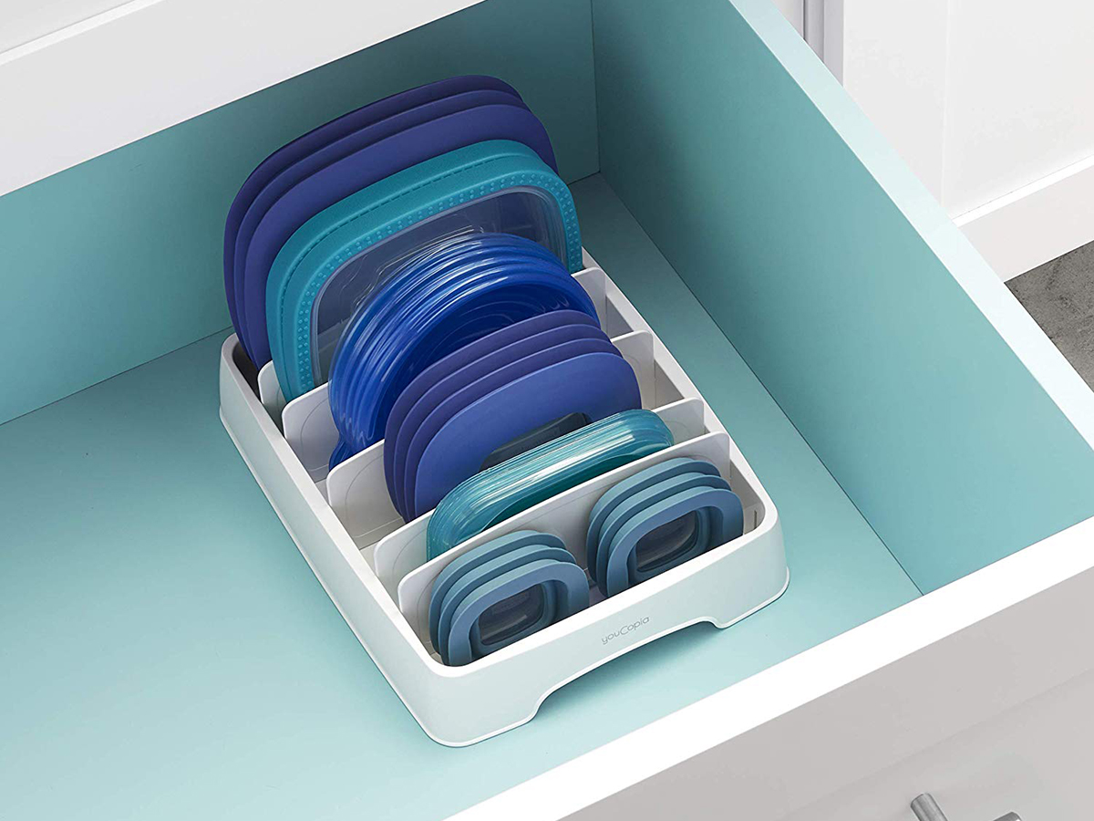 YouCopia 50224 StoraLid Food Container Lid Organizer