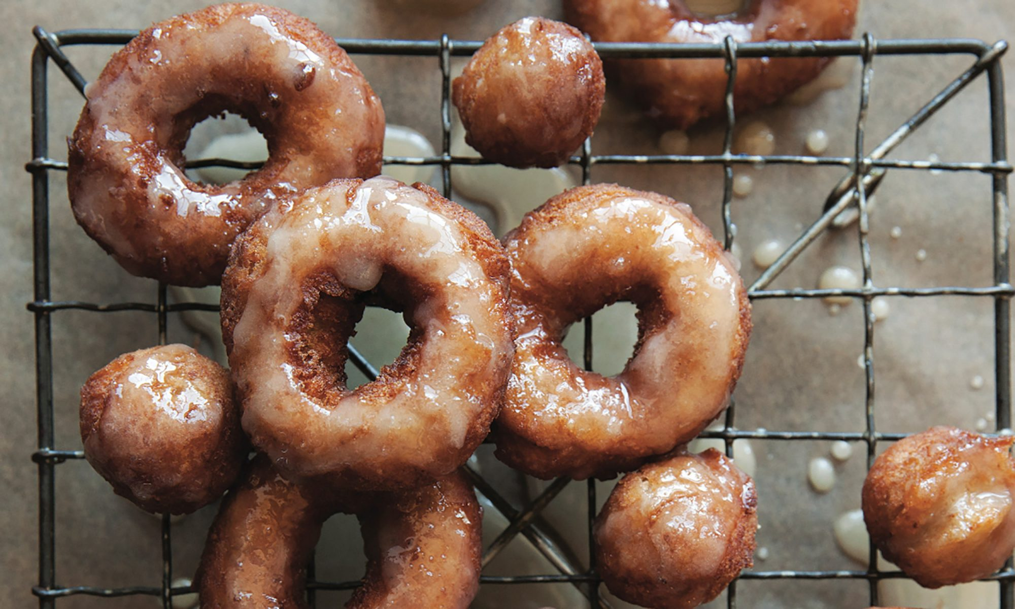 EC: Apple Cider Hazelnut Doughnuts