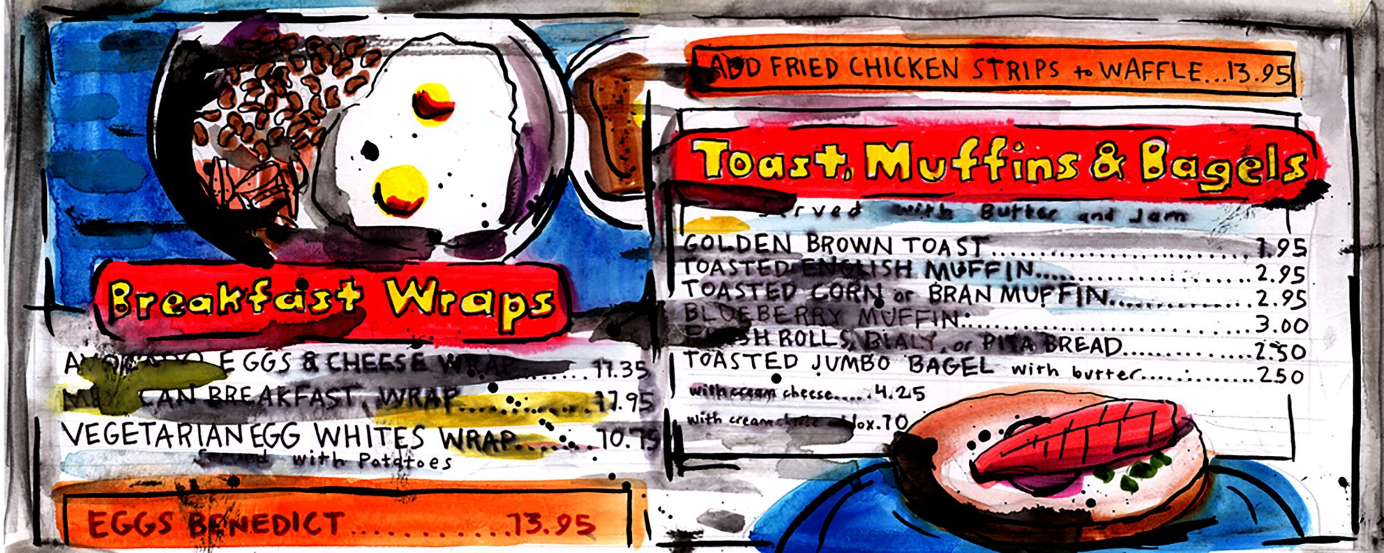EC: An Illustrated Ode to the New York Diner Menu