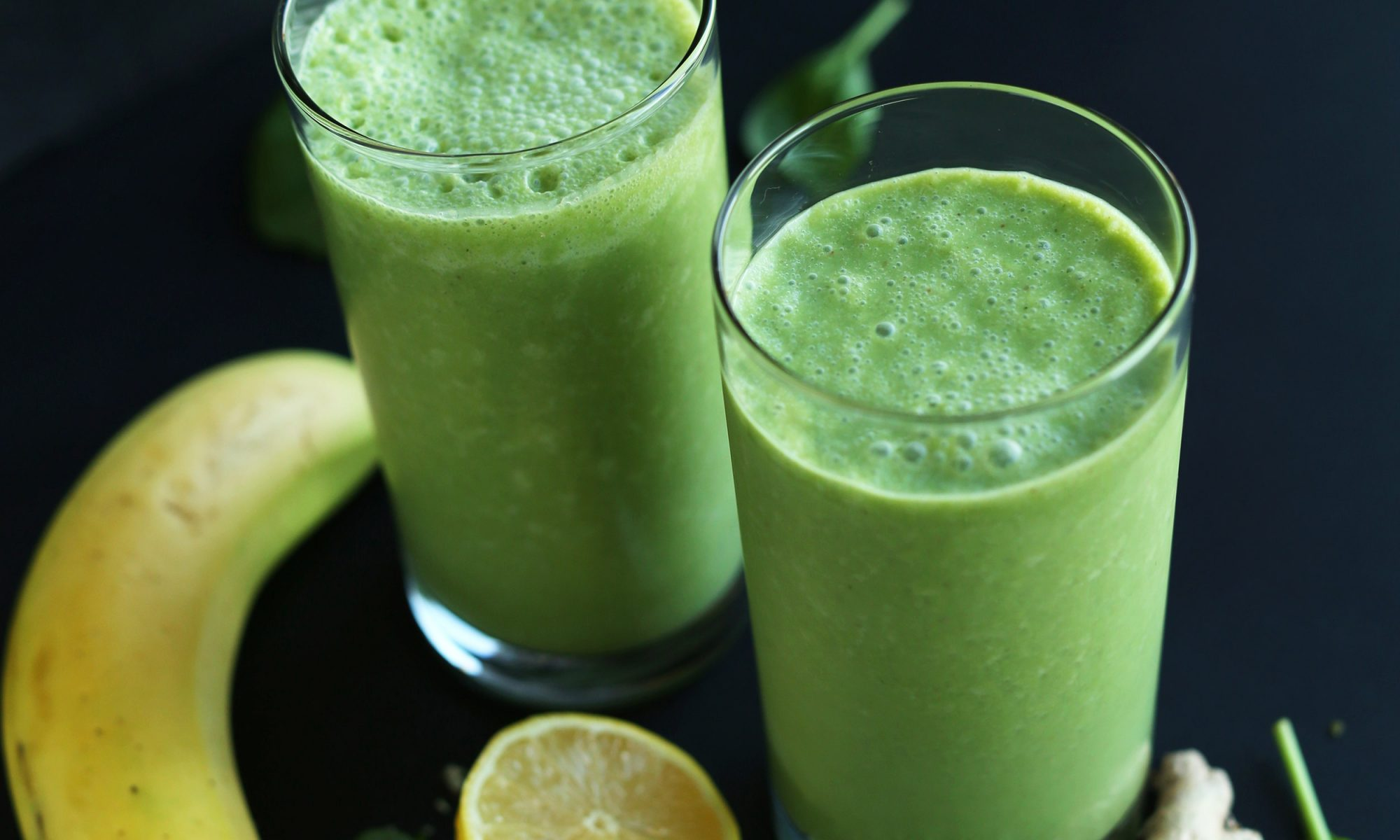 "EC: Ginger Colada Green Smoothie: ""A Piña Colada with a Gingery Kick"""
