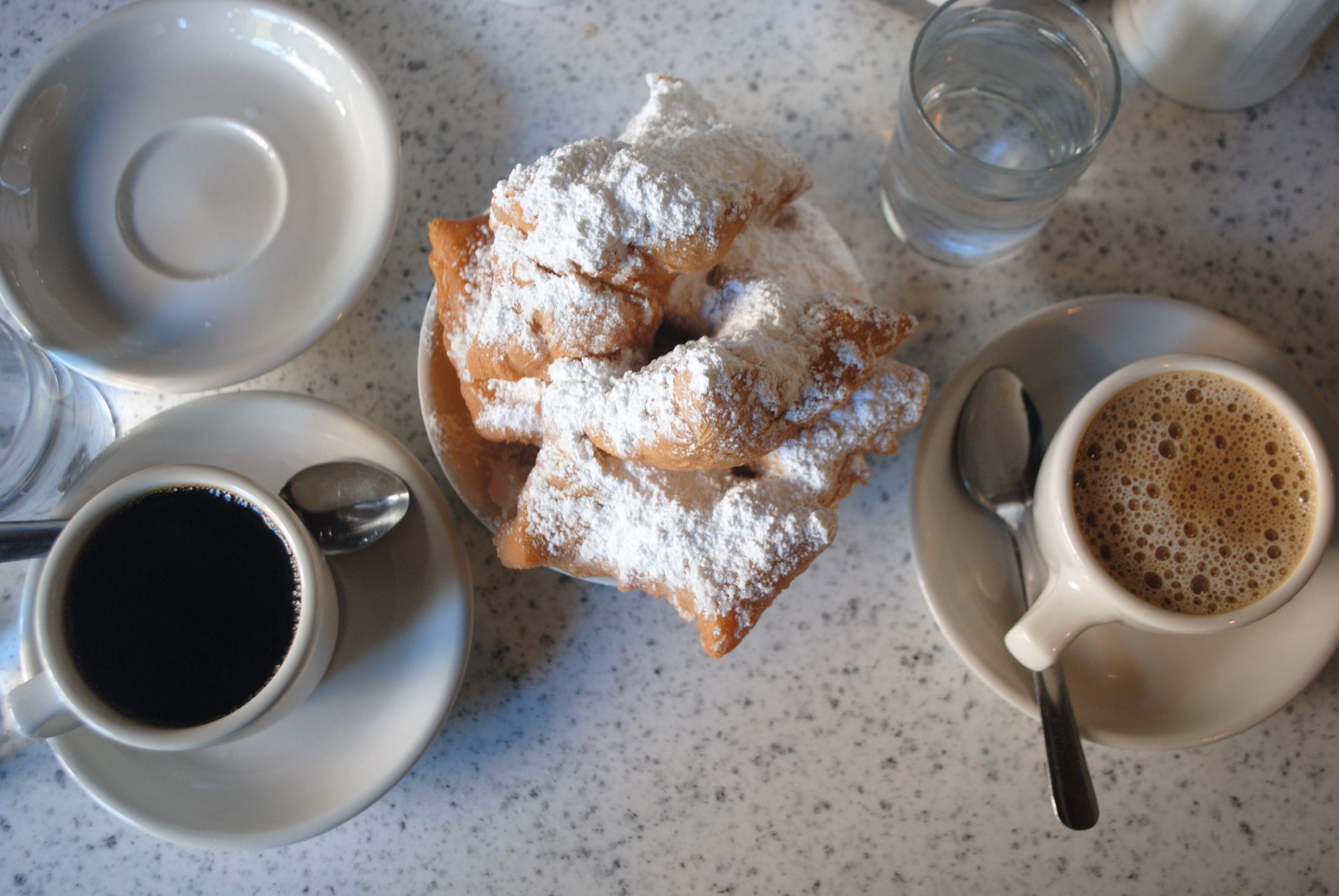 Beignets with two coffees Getty 7/7/20