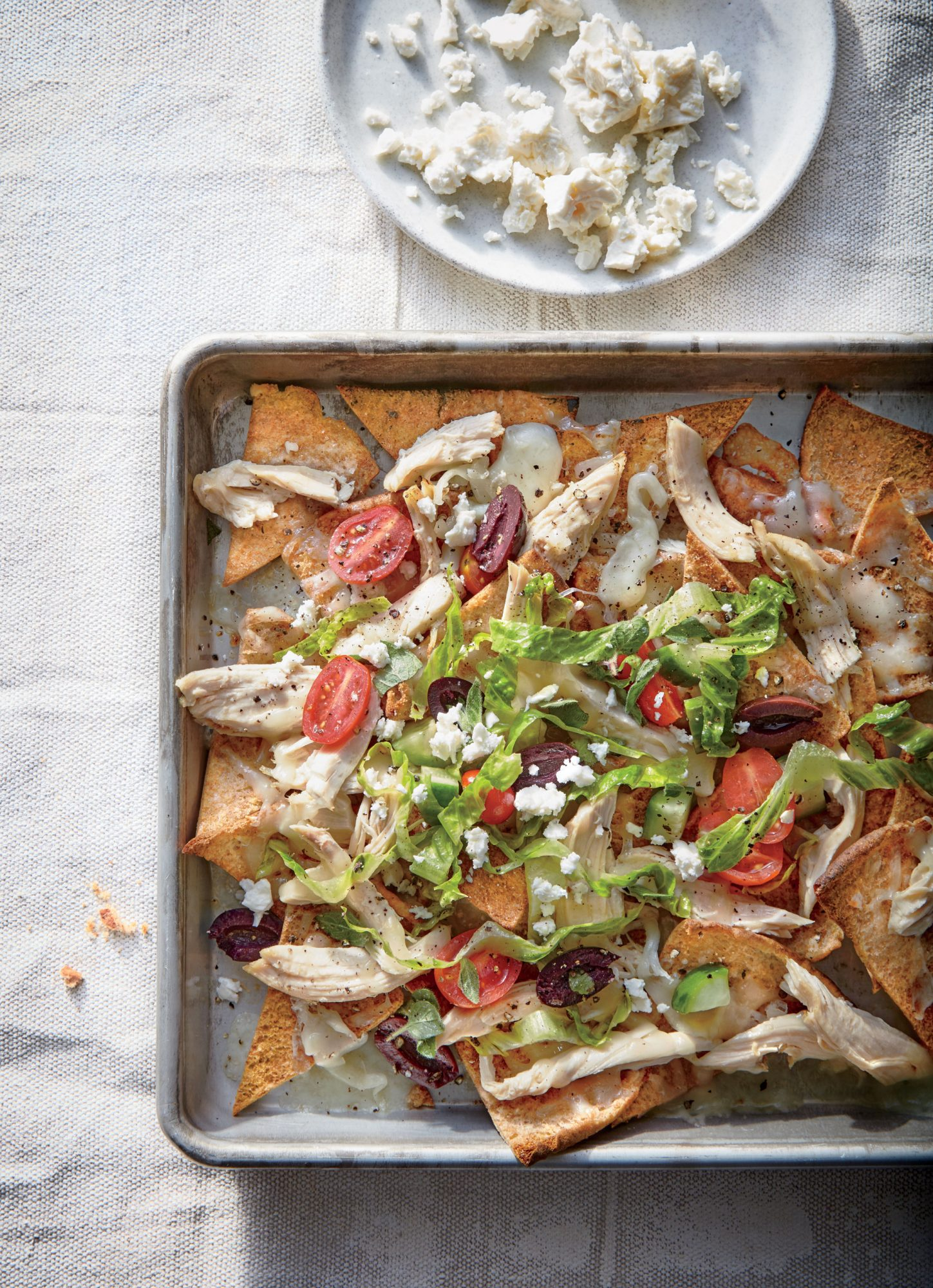 Greek Chicken Nachos image