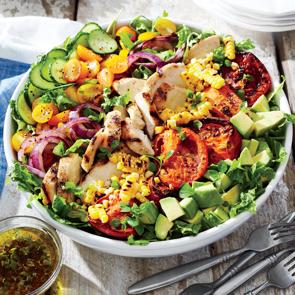 Grilled Chicken and Vegetable Summer Salad