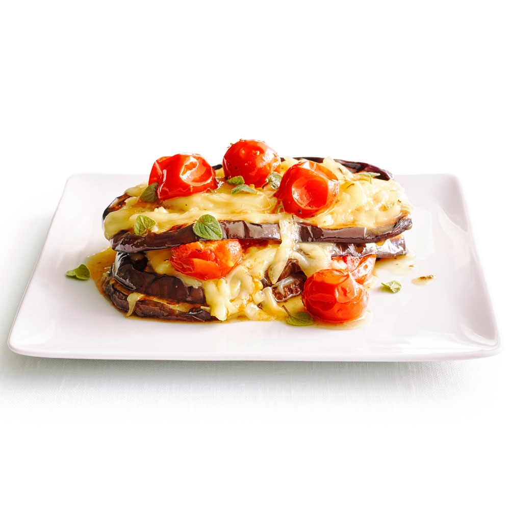 Grilled Eggplant with Cherry Tomatoes