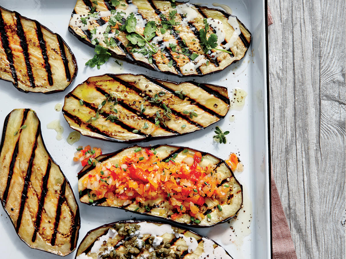 ck-Grilled Eggplant Planks with Miso Aioli Image