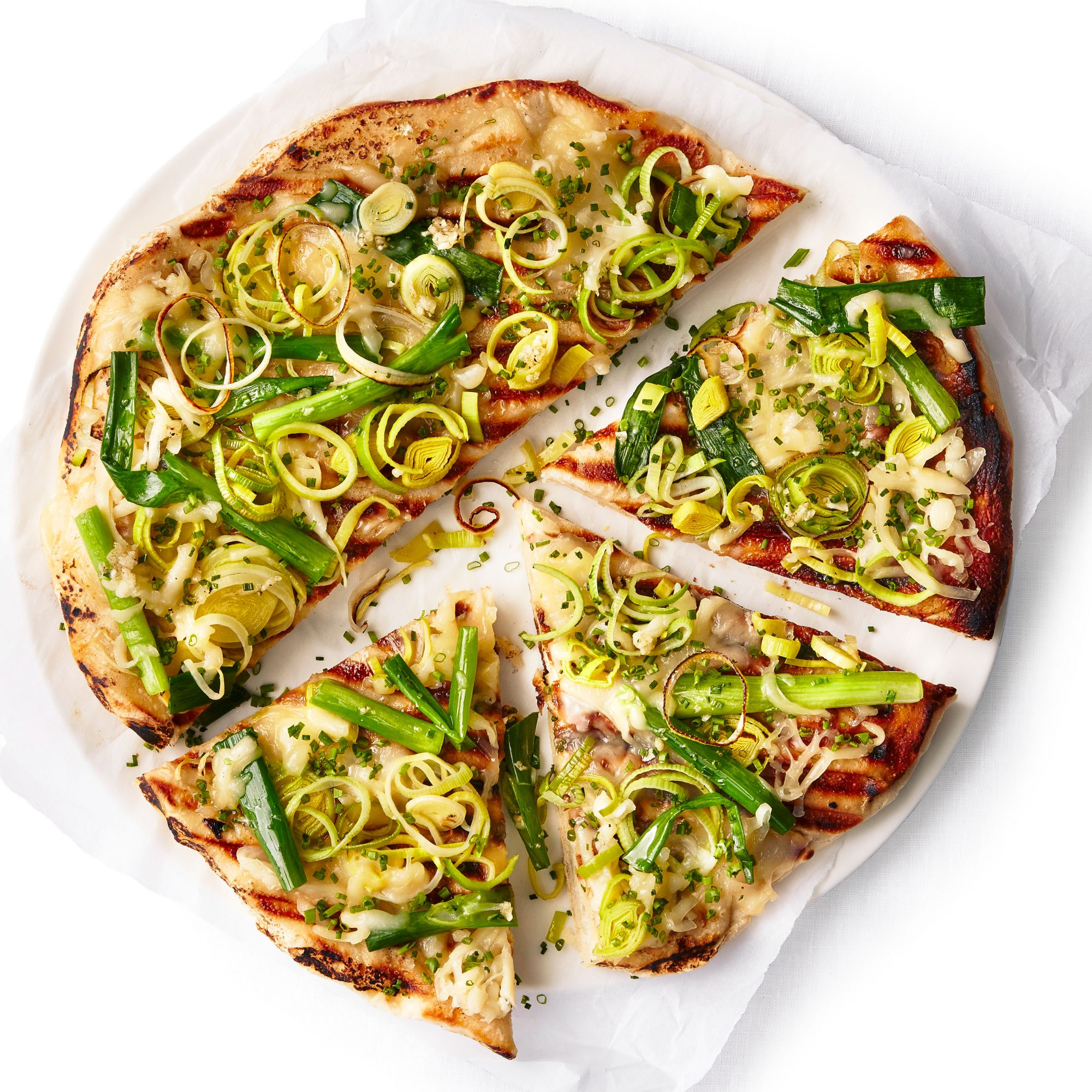 Grilled Four Onion Pizza