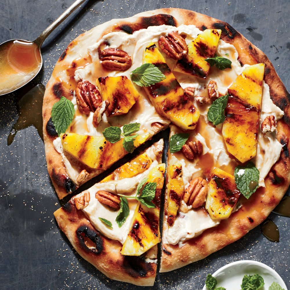 Grilled Pineapple Dessert Pizza