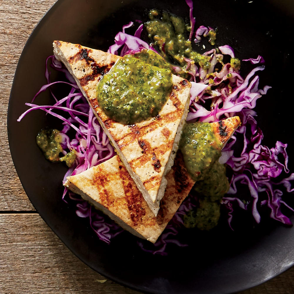 Grilled Tofu With Spicy Peanut Sauce