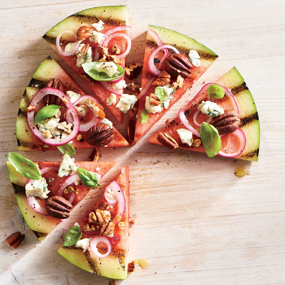 Grilled Watermelon Pizza