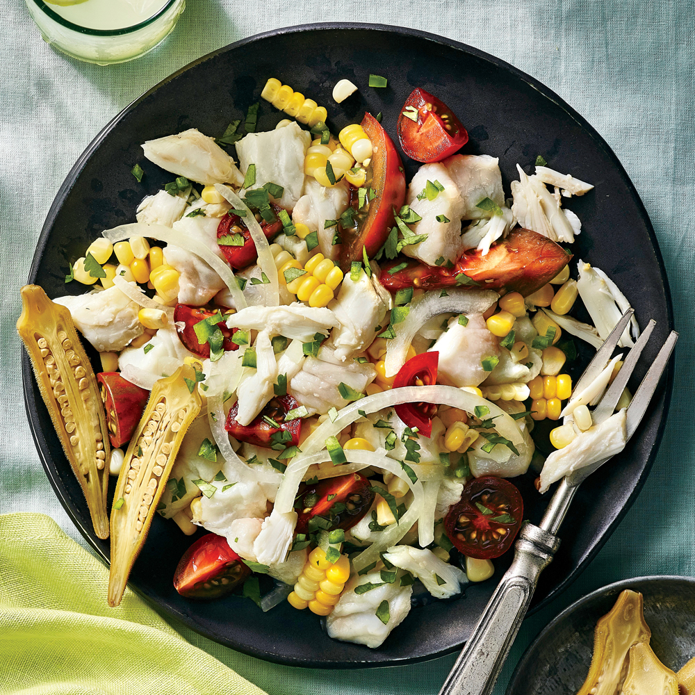 Gulf Coast Crab-and-Flounder Ceviche
