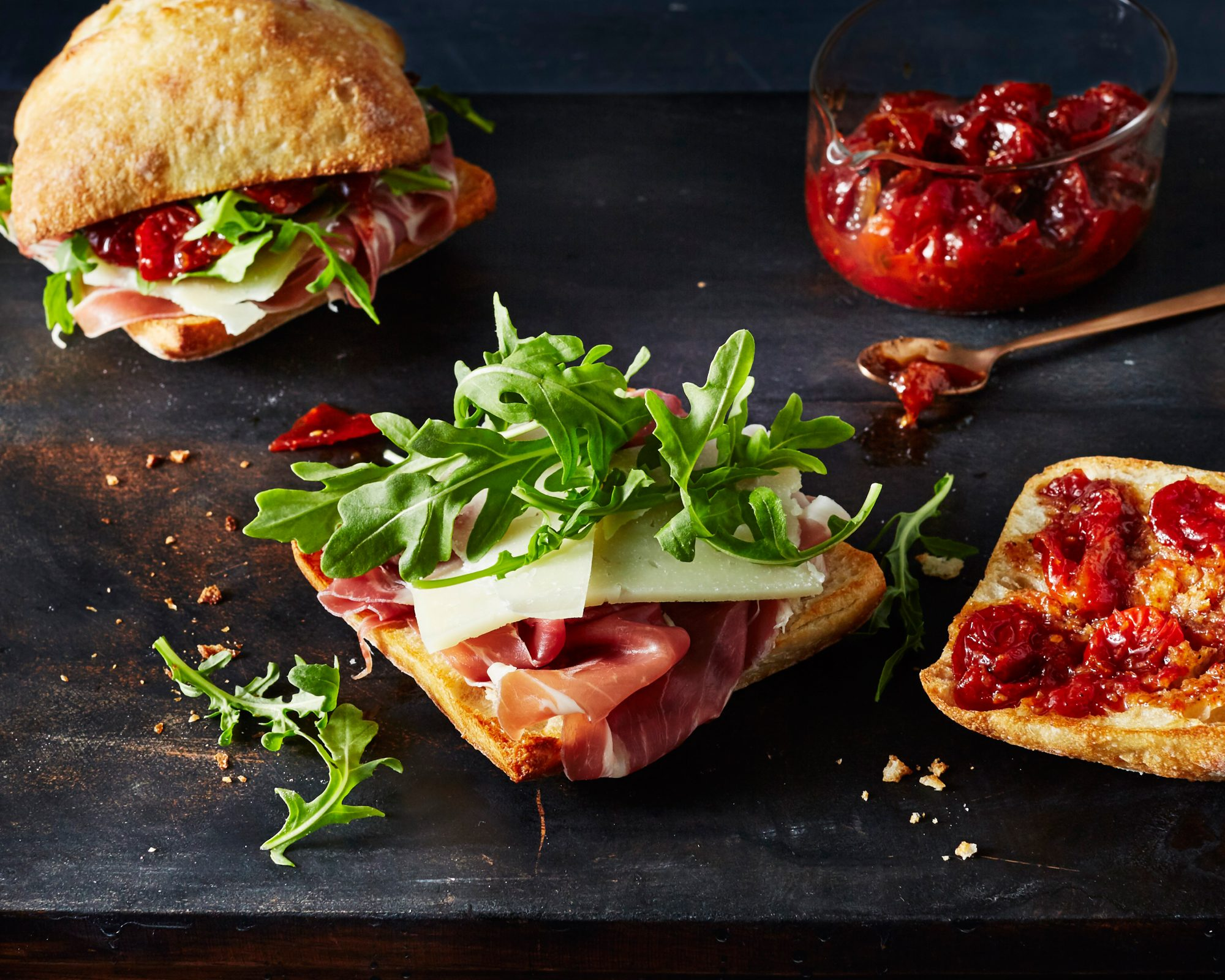 Ham and Manchego Sandwiches with Tomato Jam