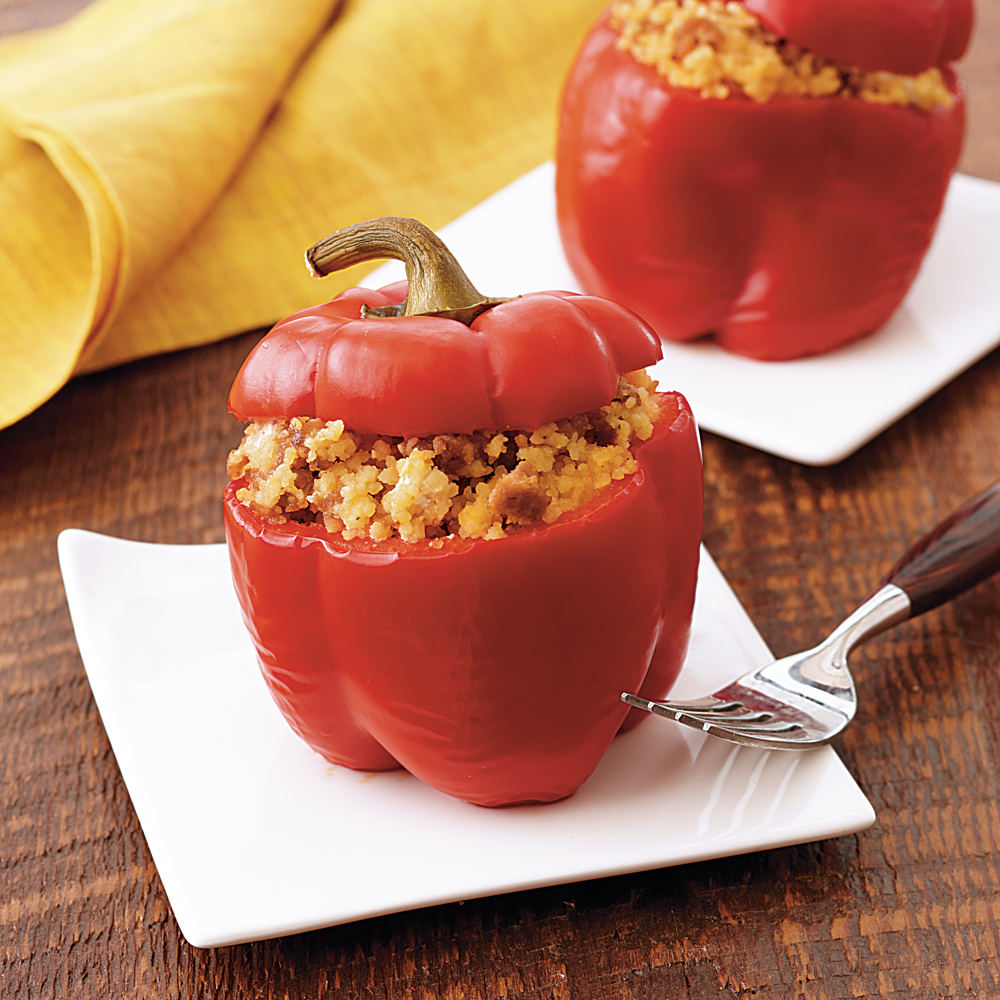 Herb and Sausage-Stuffed Peppers