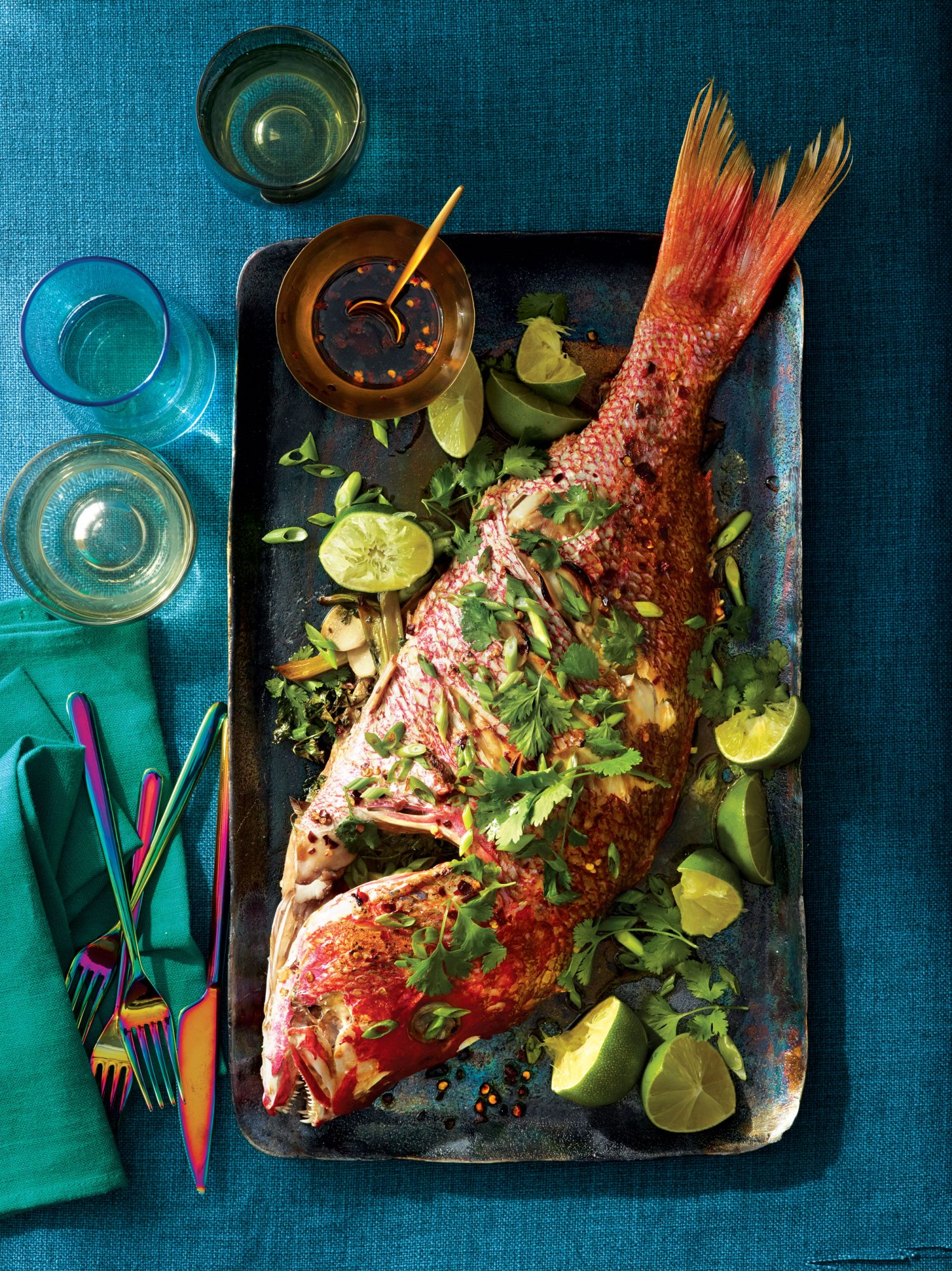 Whole Roasted Chinese Red Snapper
