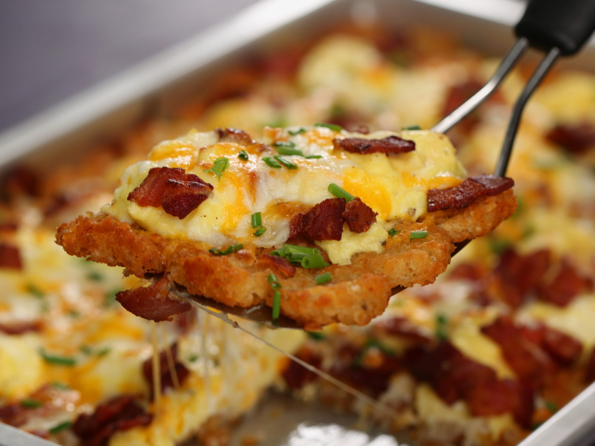 Hashbrown Breakfast Pizza image