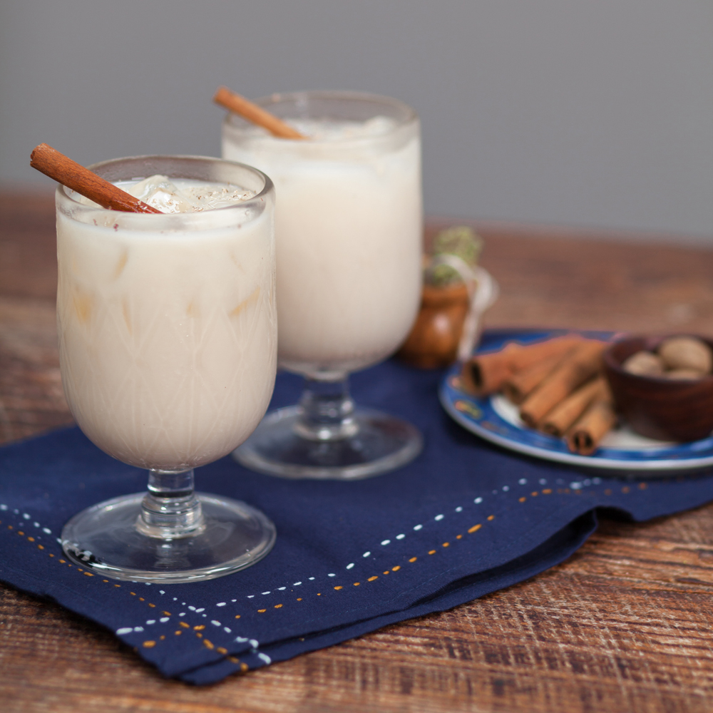 Homemade Rum-infused Horchata