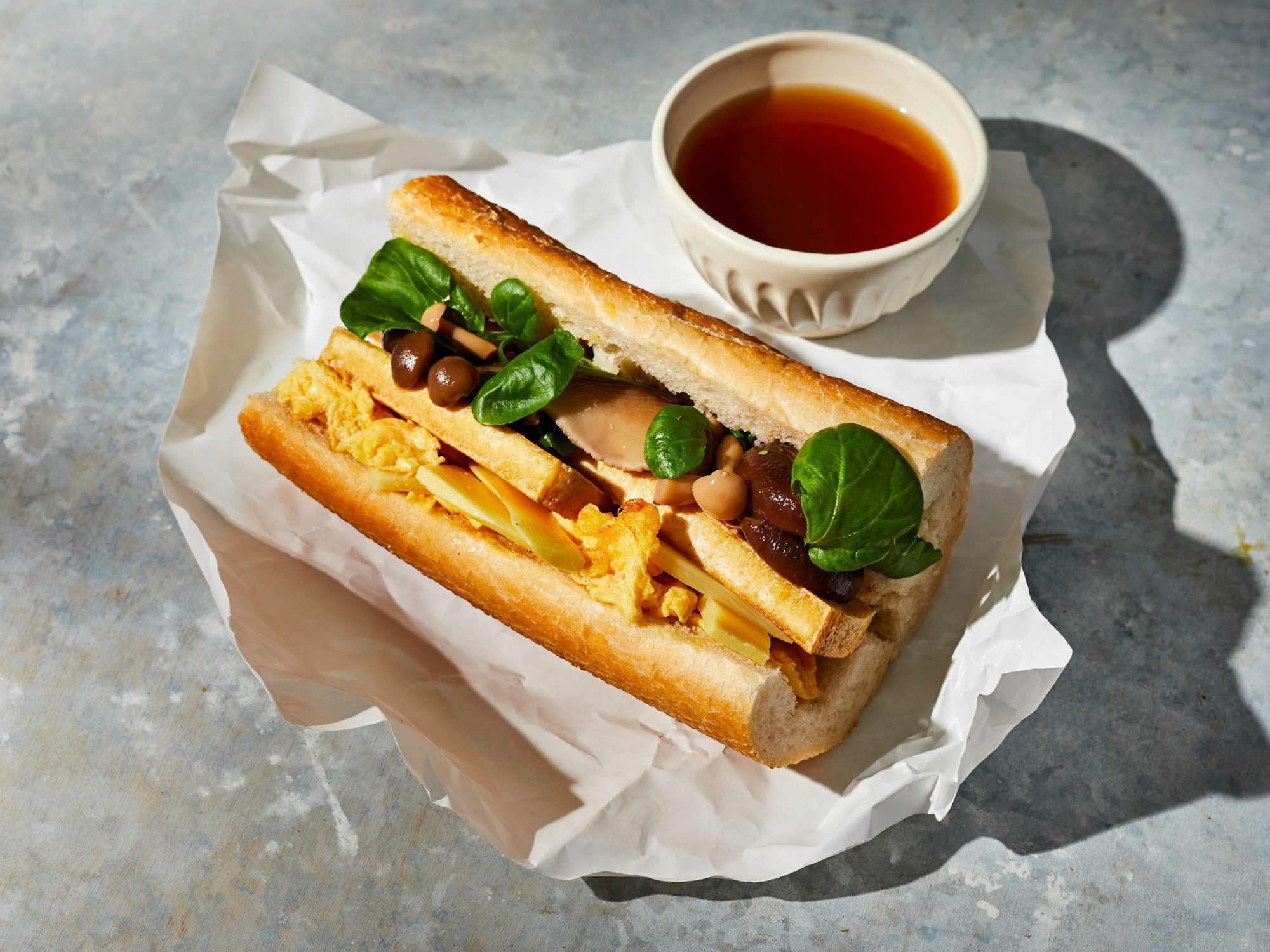 Hot-And-Sour Soup Sandwich image