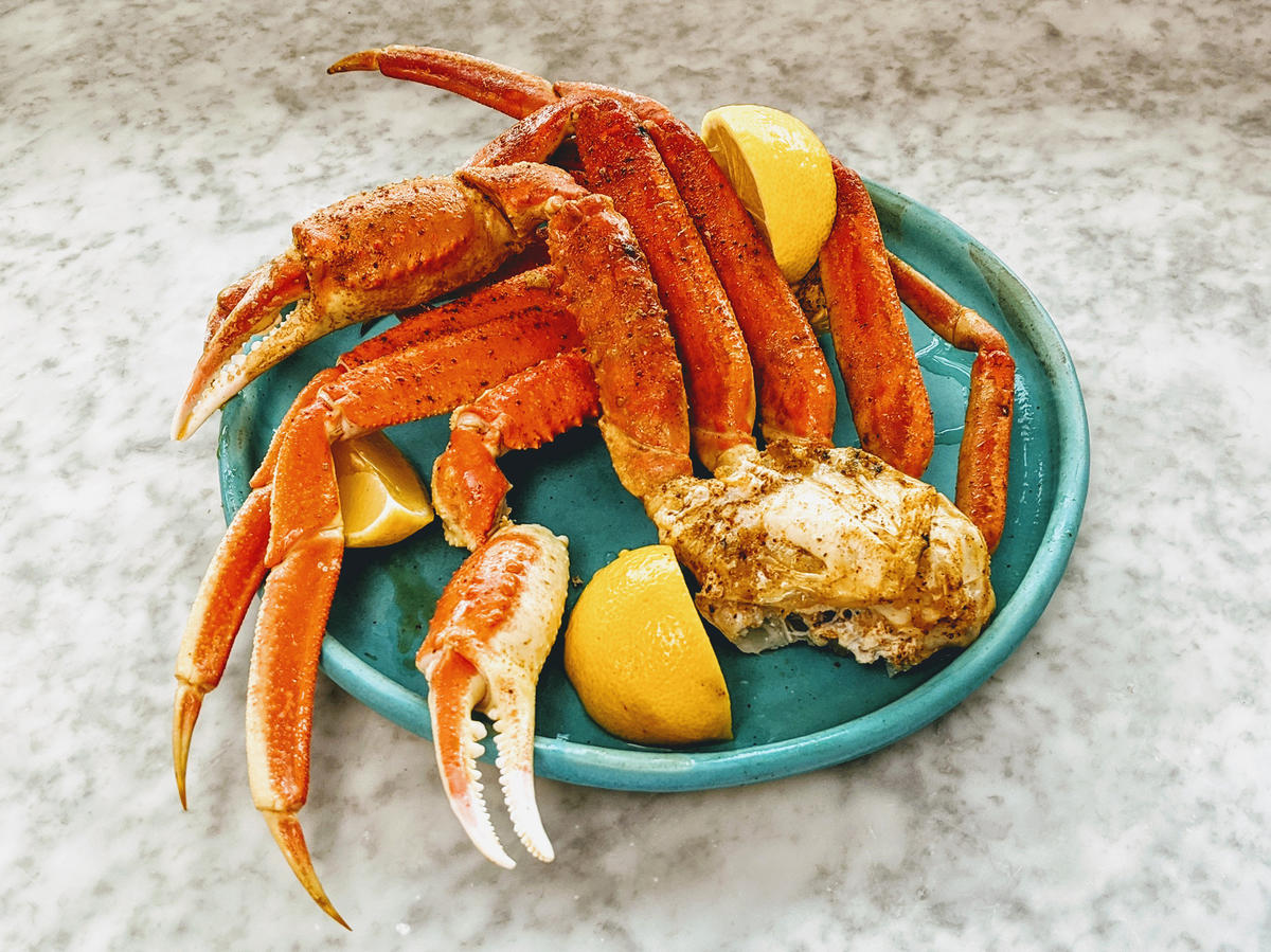 Perfect Boiled Crab Legs image