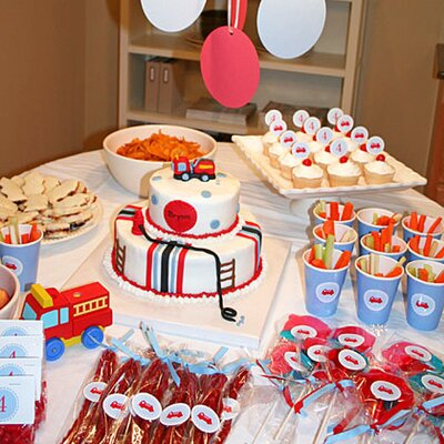Fire Truck Party Table