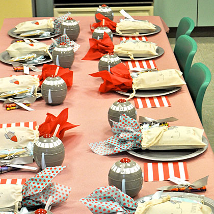 Space Party Table Setting