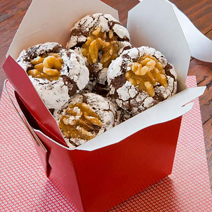 Chocolate Covered Crinkle Cookies