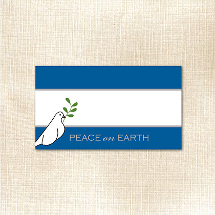 Peace on Earth Dove Place Card