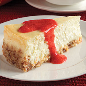 Passover Cheesecake with Strawberry Sauce Recipes