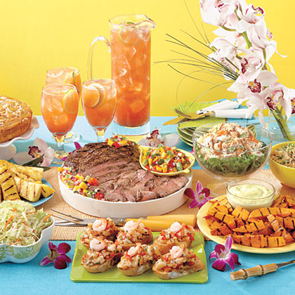 Tropical Luau Menu