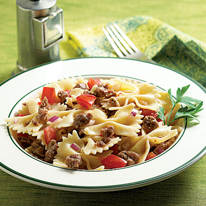Farfalle Salad with Sweet Italian Sausage