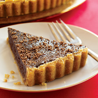 Dark Chocolate Holiday Tart