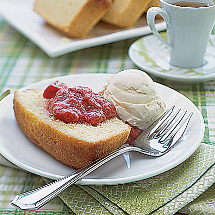 Lemon Pound Cake with Fruit Compote