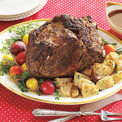 Rib Roast with Red-Wine Gravy