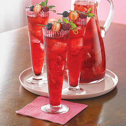 Mixed Berry Bellinis