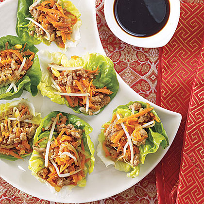Season ground turkey with hoisin and teriyaki sauces and serve in lettuce cups for a crisp and colorful Asian-style entrée.