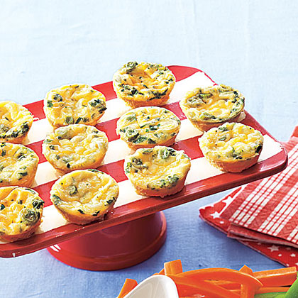 Cheesy Crustless Mini Quiches