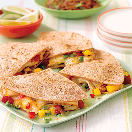 Smoked Turkey and Mango Quesadillas