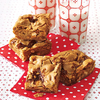 Caramel-Pretzel Blondies
