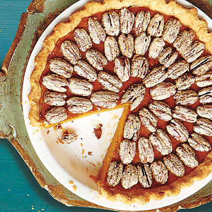 Sweet Potato Pie with Sugared Pecans