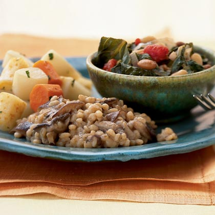 Wild Mushroom-Barley  Risotto  with Sage