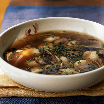 Potato Gnocchi in Mushroom Broth